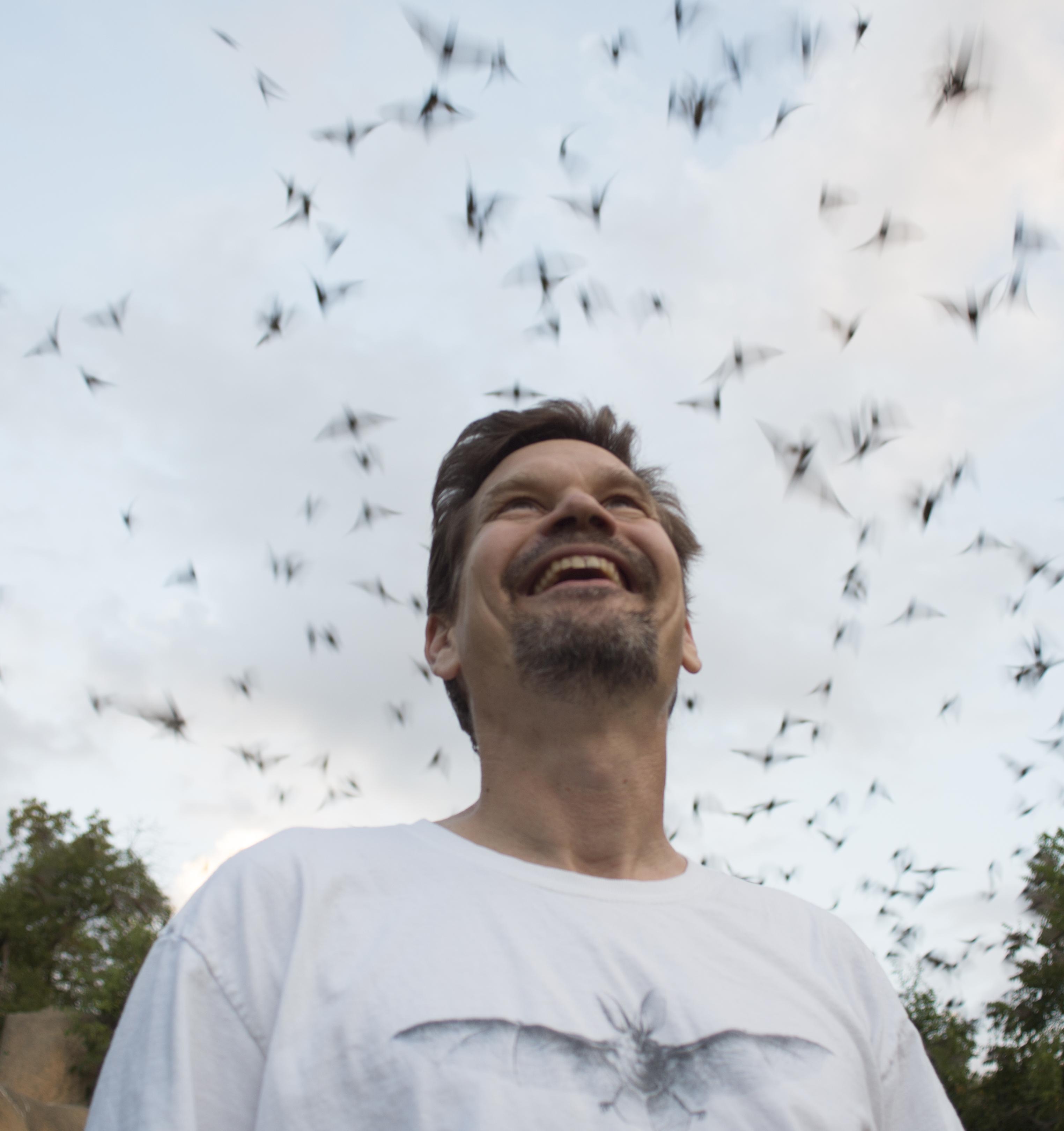 Lucas Miller at the Chiroptorium at Selah, Bamberger Ranch, Johnson City, TX in 2014
